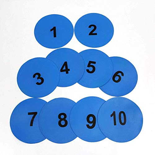 Cintz Poly Spots Markers, 23 cms Diameter, Variety of Colors and Sizes Spot Markers, Floor Markers (Numbered Poly Spot ()