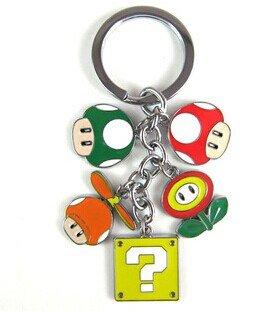 Llavero con diseño de Super Mario Bros con flor de fuego ...