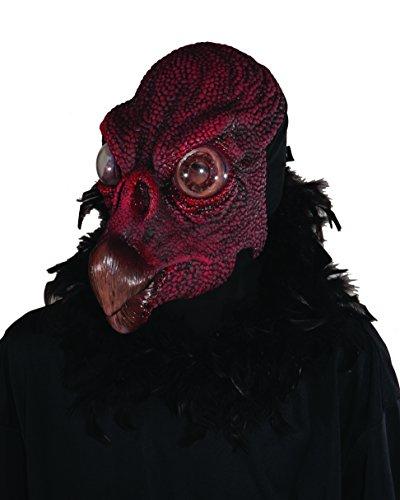 Zagone Vulture Mask,  Black Bird Large Beak, Moving Mouth - Vulture Mask