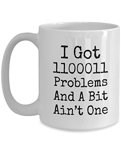 (Coffee Mug Pogrammer - Funny Saying Quote Tex for Computer Programmer or Network Engineer Binary Joke)