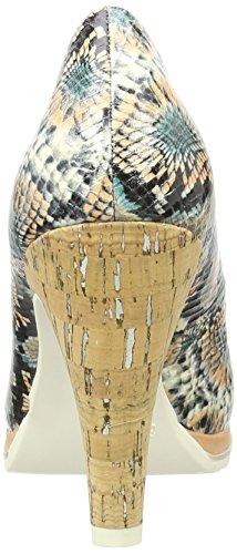 Tozzi Con multicolour Marco 990 Donna Multicolore Tacco Scarpe 22424 Sw4npdPqv1