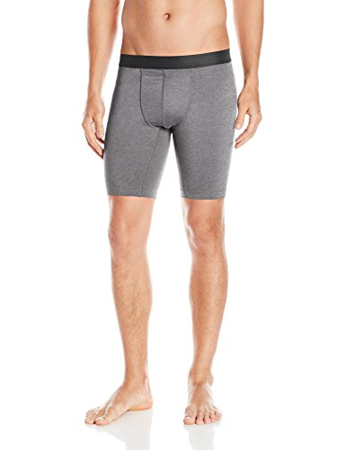 Hanes Men's Sport Performance Compression Short, Charcoal Heather/Ebony, XX-Large