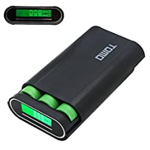 PULUZ TOMO M3 Plastic Power Bank Shell Box DIY Charger 3 x 18650 Batteries with LCD display & 2 USB Output for iPhone, iPad, Samsung, HTC, Sony, Camera (Black)