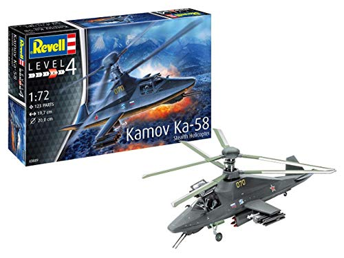 Revell 03889, Russian Kamov Ka-58 Stealth Helicopter, 1:72 Scale Plastic Model kit
