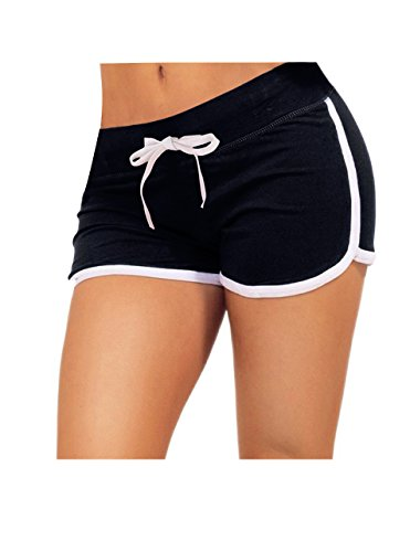 Yoga Running Retro Workout Drawstring Shorts