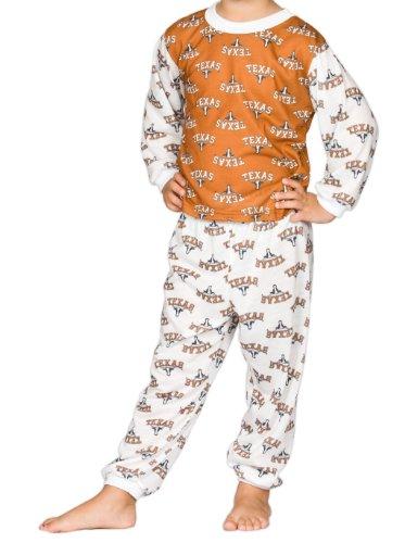 Texas UT Longhorns Big Boys Unisex Long Sleeve 2-Piece Pajama Set, Size 14 (Hooks Tj 2)