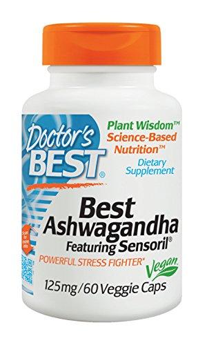 Doctor's Best Ashwagandha Featuring Sensoril, Non-GMO, Gluten Free, 125 mg, 60 Veggie Caps