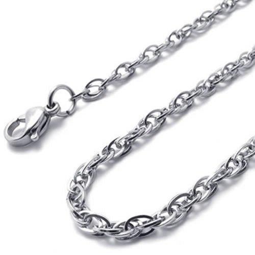 KONOV Silver Stainless Womens Necklace