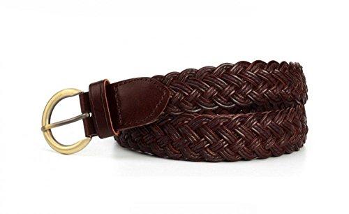 Womens Braided Waist Belt Woven Belts for Jeans Dress Casual (Braided Belt)
