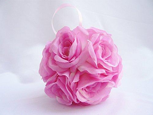 Artificial Silk Kissing Flower Ball Bouquet Wedding (light green) - 9