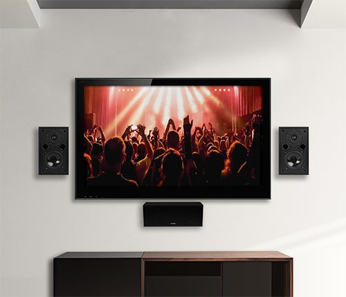 fluance av5htb dynamic home theater surround sound 5 0 channel speaker system including powerful. Black Bedroom Furniture Sets. Home Design Ideas