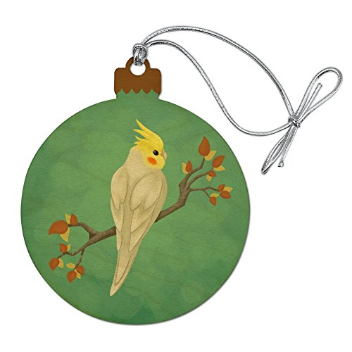 Parrot Christmas Tree Ornament - GRAPHICS & MORE Charming Cockatiel Yellow Crest Wood Christmas Tree Holiday Ornament