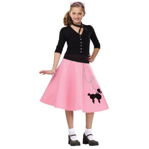 Kids 50s Poodle Skirt]()