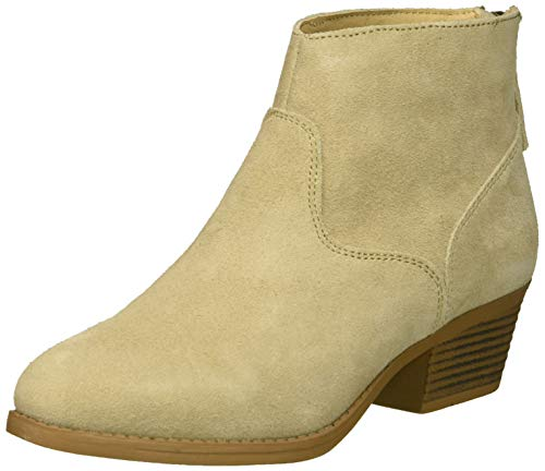 (Skechers Women's Lasso-Caravel-Short Zip-On Ankle Boot, Natural, 6.5 M US)