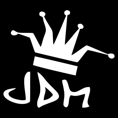 JDM King Crown JDM Jester Decal Vinyl Sticker|Cars Trucks Vans Walls Laptop| WHITE |5.5 x 5 in|CCI584 ()