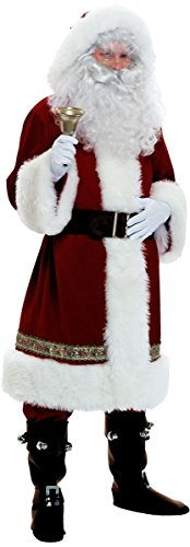 Deluxe Santa Suit Velvet Costumes (Super Deluxe Old Time Santa Suit Adult Costume - X-Large)