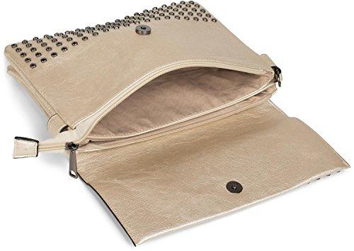 White shoulder shoulder straps handle Color ladies evening with 02012227 clutch Gold bag styleBREAKER bag studs q8OwYX