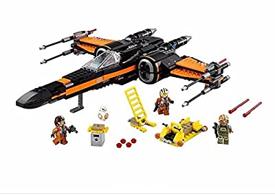 748pcs SWs Poe's X-Wing Fighter Building Toy Movie Set Poe Dameron Soldiers Minifigures