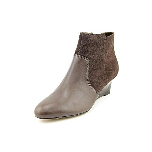Image of the Coach Mystic Women's Ankle Wedge Booties Brown (8)