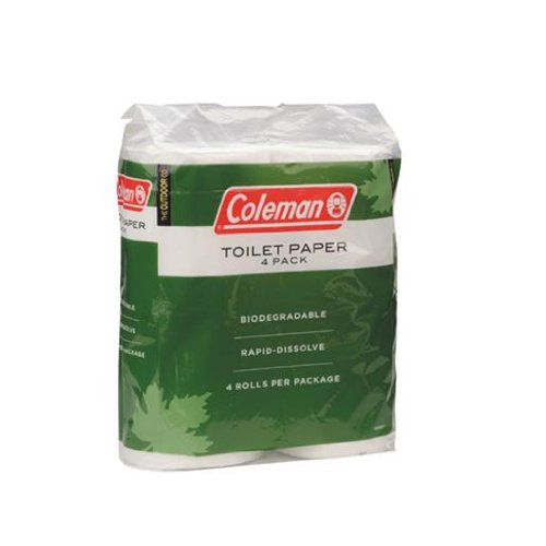 Coleman Toilet (Coleman Company Biodegradable Camp Toilet Paper 4 Pack)
