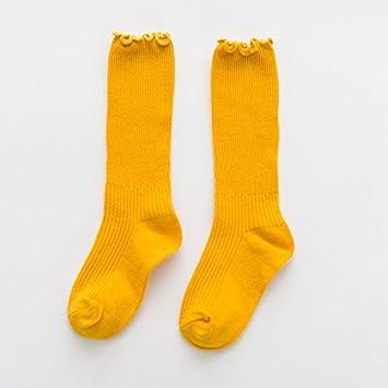 Calcetines calcetines INFANTILES ZYTAN Candy Color Negro hongo en Reactor de tubo sólido All-Match Calcetines,la cúrcuma,Acerca de 1-3 años 6 pares: ...