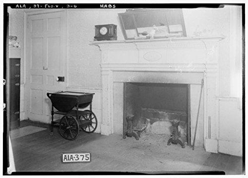 8 x 12 Photo 6. Historic American Buildings Survey Alex Bush, Photographer, March 27, 1935 Fireplace in Dining Room, S.E. Room Down Stairs - Forks Cypress, Savannah Road (Jackson Road 1885 54a by Vintography