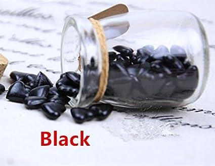 mdlg Vintage 90pcs Negro Forma de Corazón Cristal embotellada para sellado con cera Sello invitaciones de