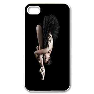 elegent swan dancing swan dance Hard Plastic phone Case Cove For Iphone 4 4S case cover XXM9105579