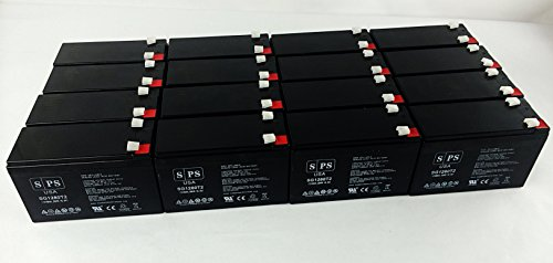 Serial Ups System (SPS Brand Replacement Battery for Belkin Regulator Pro Gold Series-Serial F6C425-SER 12V 8Ah UPS Battery (16 pack))
