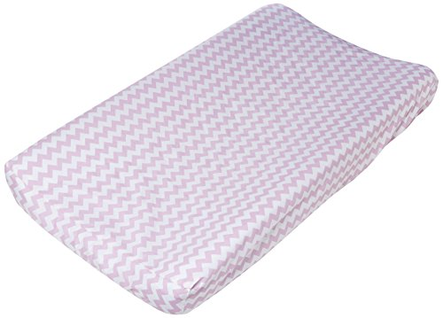 Trend Lab Orchid Bloom Chevron Changing Pad Cover, Purple