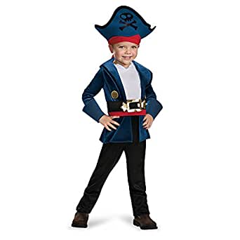 Disguise 86382M Captain Jake Classic Costume, Medium (3T-4T)