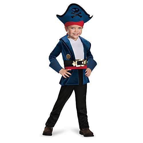 Disguise 86382M Captain Jake Classic Costume, Medium (3T-4T) (Costume Pirate Toy)