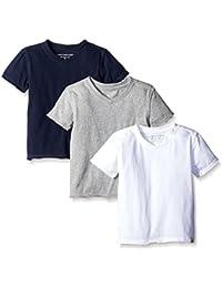 Boys' Short Sleeve Reverse Seam V Neck Under Shirts