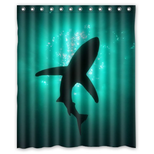 Madison Florals Wallpaper - abigai shark wallpaper Custom Printed Waterproof fabric Polyester Bath Curtain Bathroom Decor Shower Curtain 60