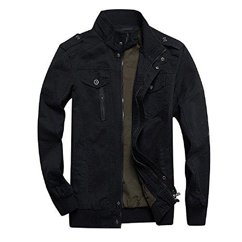 Long Sleeve Jacket (Dwar Men's Casual Long Sleeve Full Zip Jacket with Shoulder Straps)
