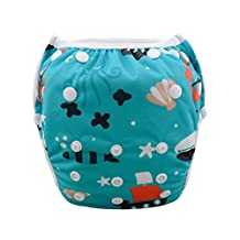 Babygoal Baby Swim diapers, Babygoal Reuseable Washable and Adjustable for Swimming, Outdoor Activities and Daily Use, Fit Babies 0-2 Years SW23-CA