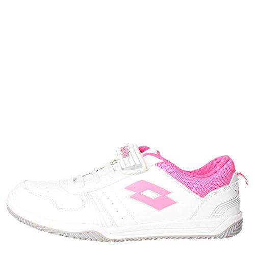 Lotto R9006 Niedrige Sneakers Mädchen Weiss/Rosa