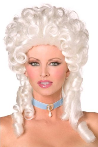 Smiffys Women's Baroque Wig, White, One Size