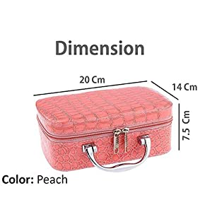 Brezzycloud Multifunction Travel Cosmetic Make-Up Bag with Small Mirror Adjustable Dividers for Cosmetics, Makeup…