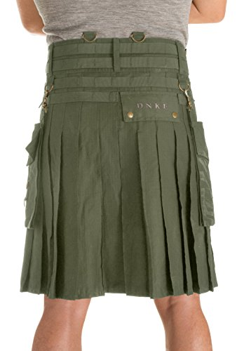 Damn Near Kilt 'Em Men's Tactical Kilt X-Small Military Green by Damn Near Kilt 'Em (Image #2)