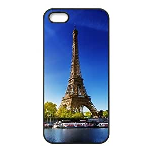 For Iphone 5/5S Phone Case Cover Eiffel Tower Paris Autumn For Teen Girls, For Iphone 5/5S Phone Case Cover Teen Girls [Black]