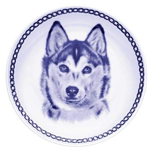 Siberian Husky - Dog Plate made in Denmark from the finest European Porcelain. Premium Quality and Design from Lekven. Perfect Gift For all Dog Lovers. Size - 7.61 inches.