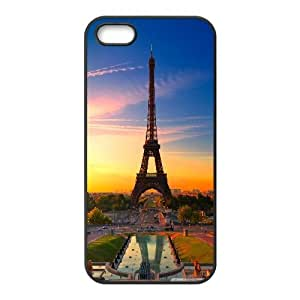 Yearinspace eiffel tower at sunrise iPhone 5,5S Cases, Cute Protective Phone Case For Iphone 5s For Girl {Black}