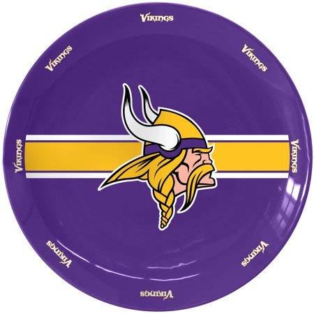 Boelter Brands NFL Minnesota Vikings Ceramic Serving Plate, 11-Inch, Purple