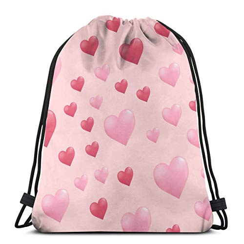 Pink Love Sweetheart Customized Sports Pumping Rope Bag Is Suitable For Unisex Outdoor Travel -