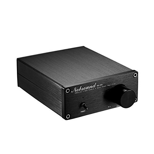 Nobsound Mini Dual TPA3116 Digital Power Amplifier HiFi Stereo Amp Audiophile-Grade 2.0 Channel 100W×2 NE5532P Pre-Amp (Black) by Nobsound (Image #2)