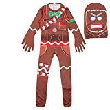 DIDIXIANG Kid Soldier Skull Trooper Skin Decoration Boys Character Clown Cosplay Clothes Halloween Costumes (Ginger Man, 140(125-135))
