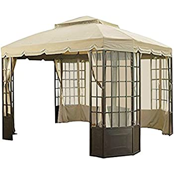 Garden Winds Replacement Canopy For Sears Bay Window Gazebo   Riplock 500  Performance Fabric