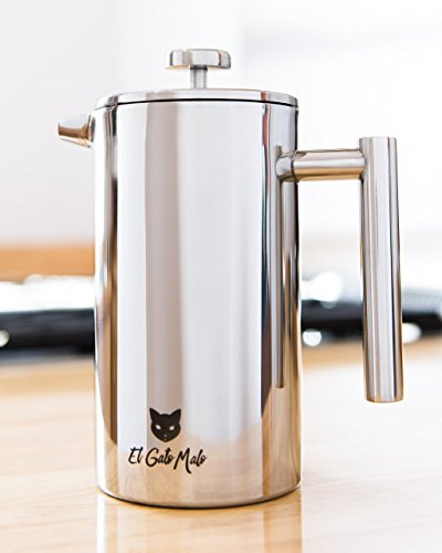 French Press Coffee Maker Problems : Stainless Steel French Press Coffee Maker - Double Wall Insulated - Tea and Coffee Press - 34 oz ...