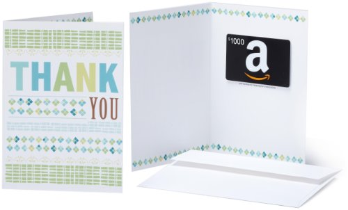 Amazon.com $1000 Gift Card in a Greeting Card (Thank You Design) ()